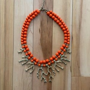 Orange Gold Abstract Coral Necklace Francesca's